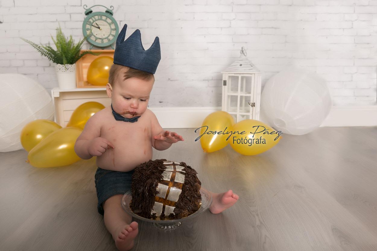 sesion fotografica de cumpleanos en madrid cake smash